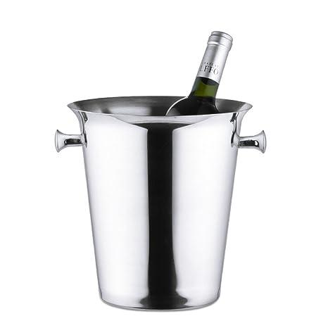 Champagne cubo de acero inoxidable cubo de hielo: Amazon.es ...