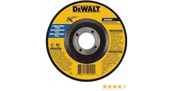 5-Inch x 1//8-Inch x 7//8-Inch DEWALT DWA4512 Metal Grinding Wheel