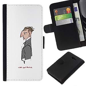 iBinBang / Flip Funda de Cuero Case Cover - Sir Blanca señor Sherlock Camarero - Sony Xperia M2