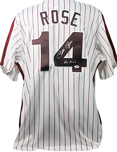 Phillies Pete Rose 'Hit King' Authentic Signed Cooperstown Jersey PSA/DNA by PRESS PASS COLLECTIBLES (B010MR8BDI)