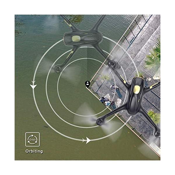 Hubsan H501S X4 PRO Brushless FPV Droni Quadricotteri GPS Fotocamera 1080P HD 5.8Ghz Headless Follow Me GPS Hold Altitude con H906A Telecomando (H501S Nero) 3 spesavip