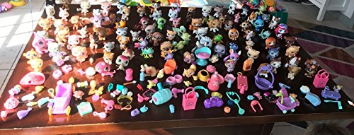 Littlest Pet Shop ~ LPS 10 Piece RANDOM LOT ~ 5 Pets & 5 Acc