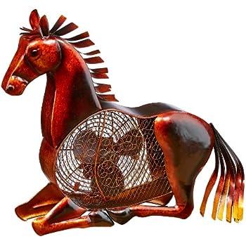 DecoBREEZE Table Fan Two-Speed Electric Circulating Fan, Horse Figurine Fan