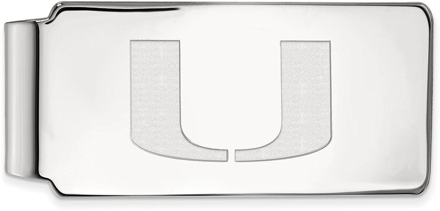 Hermosa plata de ley 925 plata de ley 925 con logo de la Universidad de Miami: Amazon.es: Joyería