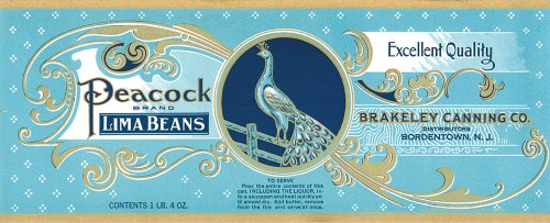 Vintage Labels – Peacock Brand Sport Silver Lamp