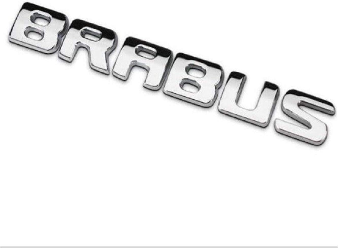 Silver CXYYJGY Autocollant de Coffre de Voiture embl/ème d/écalcomanie Accessoires de Style Logo Brabus