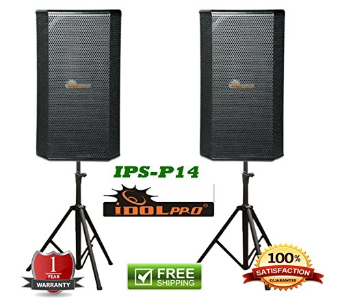 IDOLPRO IPS-13 1000W Professional High Fidelity Karaoke Loudspeaker with Heavy Durty Speakers Stands Combo