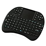 ANEWKODI I8 2.4GHz Multi-Media Portable Wireless Handheld Mini Keyboard with Touchpad Mouse for PC (Black Finger)