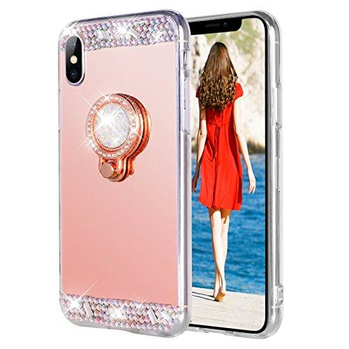 Rhinestone Diamond Cover Bling (WATACHE Case for iPhone X/10 5.8