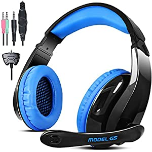 3.5mm USB Wired Stereo Gaming Headset Over Ear Headband Headphone with Micfor PC Computer Laptop PS4