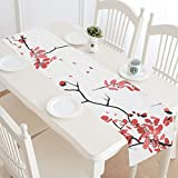 InterestPrint Japanese Cherry Blossom Table Runner Home Decor 14 X 72 Inch, Pink Sakura Table Cloth Runner for Wedding Party Banquet Decoration
