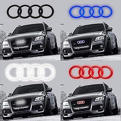 Motorfox Led Badge Emblem Logo Front Grill Illuminated Glow Light Black chrome 10,7 inch: Automotive