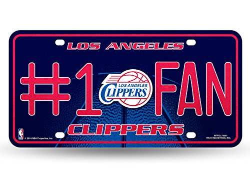 NBA Los Angeles Clippers Bling #1 Fan Metal Auto Tag Plate, 12 x 6-Inch, ()