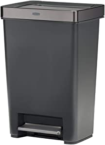 Rubbermaid Premier Series IV Step-On for Home and Kitchen, 13 Gallon, Charcoal