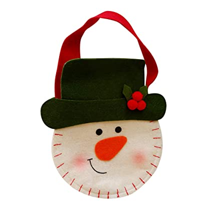 Amazon.es: YeahiBaby Navidad Dulces Bolsas de Regalo de Tela ...