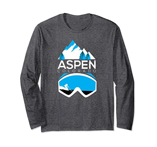 Unisex Aspen t shirt - Colorado ski & snowboard clothing Medium Dark (Aspen Ski And Snowboard)
