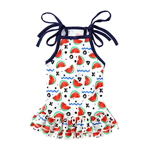 Pet Clothes, Vine_MINMI Lovely Summer Fruit T-Shirt Dog Skirt Dress Watermelon Clothes for Small Dogs Cats Puppy White]()