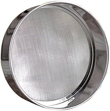 professionnel rond en acier inoxydable Tamis à farine 15,2cm, 18/8Acier 40Maille filet