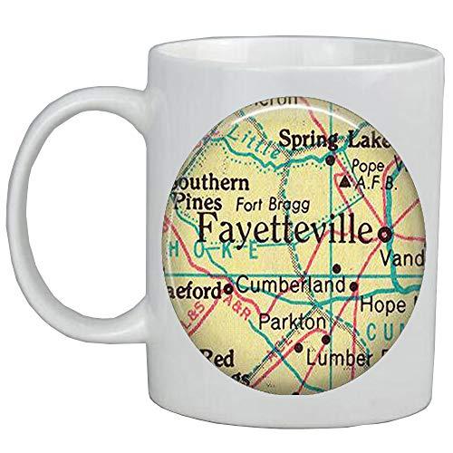 Fashion Coffee Mug,Fayetteville,North Carolina Mug,Fayetteville map Coffee Mug,Fayetteville map Mug,Ft Bragg map Coffee Mug,A0318]()