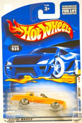 2000 - Mattel / Hot Wheels - Montezooma (Monte Carlo) - Custom Yellow - 2001 First Editions - #23 of 36 - Collector #035 - T Top - MOC - LImited Edition - Collectible