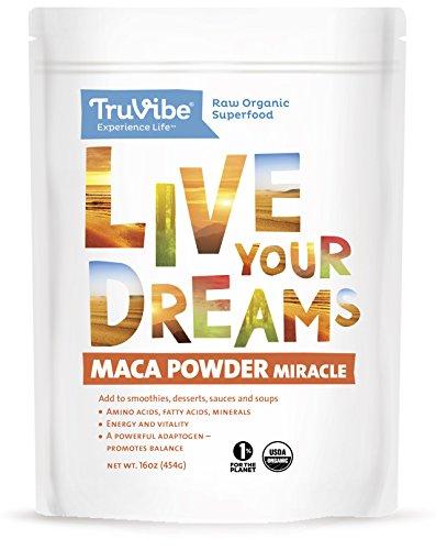 Truvibe Maca Powder Organic, 16 Ounce
