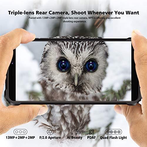 Téléphone Incassable OUKITEL WP5, Grande Batterie 8000 mAh, 4GO RAM + 32Go ROM, Smartphone Antichoc Étanche, Écran 5,5… 5