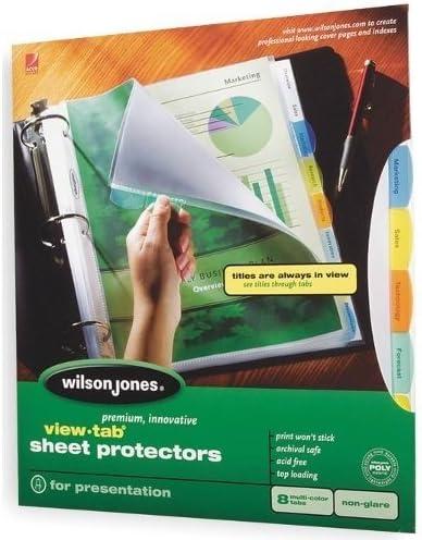 View-Tab protectores de hoja, fácil organizar, MULTI-TABS, 8/PK ...