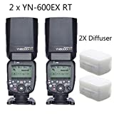 YONGNUO 2pcs YN600EX-RT Master TTL Flash Speedlite for Canon AS Canon 600EX-RT With 2pcs EACHSHOT Diffuser Color: 2pcs YN-600EX-RT+Diffuser, Model: , Electronics & Accessories Store