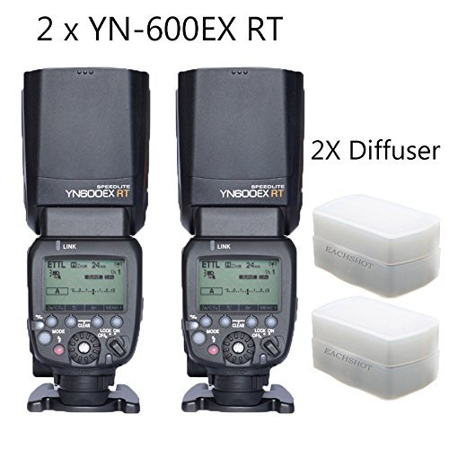 YONGNUO 2pcs YN600EX-RT Master TTL Flash Speedlite for Canon AS Canon 600EX-RT With 2pcs EACHSHOT Diffuser Color: 2pcs YN-600EX-RT+Diffuser, Model: , Electronics & Accessories Store by Electronics World
