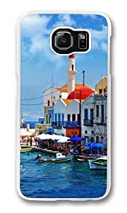 Beautiful Greece Corner Polycarbonate Hard Case Cover for Samsung S6/Samsung Galaxy S6 Transparent