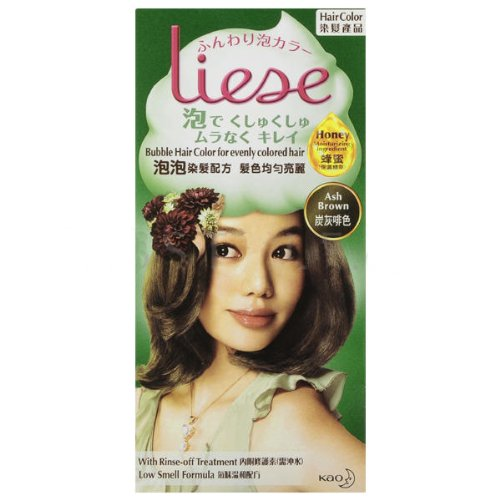 KAO Liese Bubble Hair Color Dye Easy Use & More Evenly Colored New Formula !! (Ash Brown)