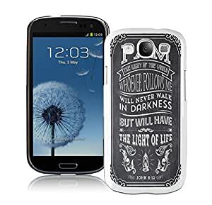 Element Samsung Galaxy S3 Case I9300 Durable Soft Silicone TPU CiCi Mode Christian Jesus Bible Verse Design White Phone Protective Case Cover