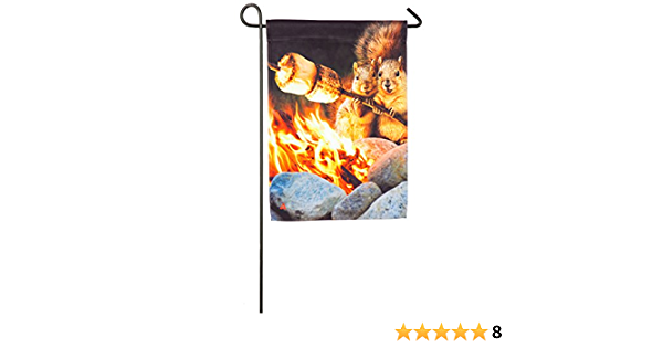 Amazon Com Evergreen Flag Campfire Couple Satin Garden Flag 12 5 X 18 Inches Outdoor Decor For Homes And Gardens Garden Outdoor