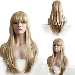 AN-LKYIQI Ultra - Low Cost de las mujeres en Europa y América moda de la peluca de onda pelo largo mullido