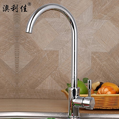 Hlluya Professional Sink Mixer Tap Kitchen Faucet Kitchen Faucet high Cuisine Basin Mixer Mixed Batch of Kitchen Cooking pots of Water taps, 60 cm 304 Stainless Steel Black Wire mash-ups