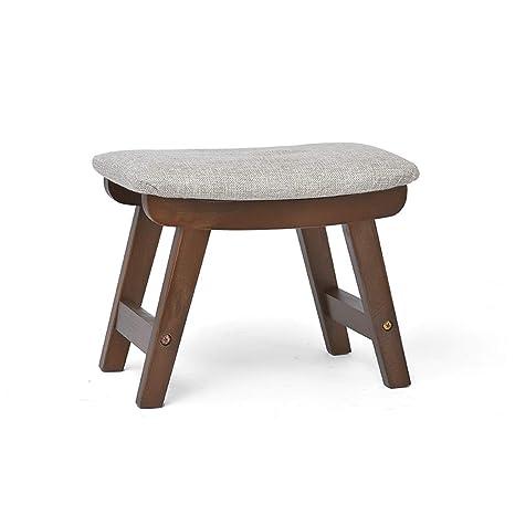 Amazon.com: Taburete de pie de estilo otomano, de madera ...