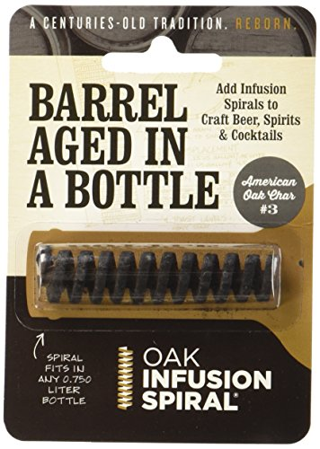 Oak Infusion Spiral 9U-AQSI-Z3EY2 Pack - Barrel Aged in a Bottle Barrel Age Your Whiskey - Bourbon - Wine - Favorite Alcohol in Days, Improve the Flavor and Looks with the (Rum Infusion)