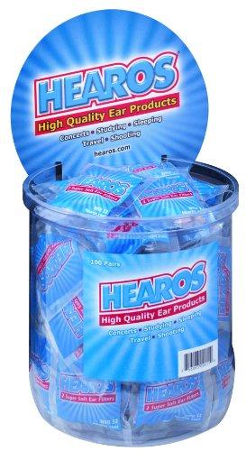 Hearos 411 100 paires de bouchons d'oreille en poly-sac, Headercard