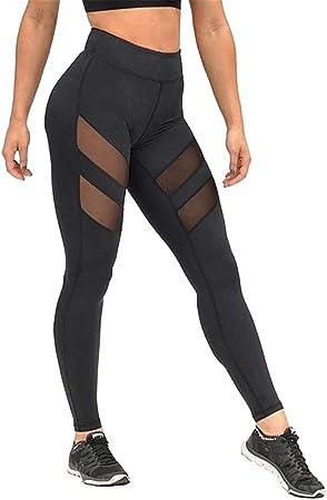 Kentop Leggings para Mujer, pantalón de Deporte, pantalón de Yoga, Malla, algodón, Fitness, Cintura Alta, Transpirable, Color Negro M: Amazon.es: Hogar