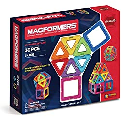 Magformers Basic Set (30 pieces) magnetic building blocks, educational magnetic tiles, magnetic building STEM toy
