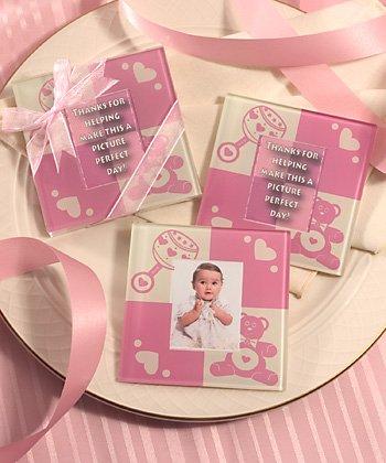 (Baby Girl Glass Photo Coasters)