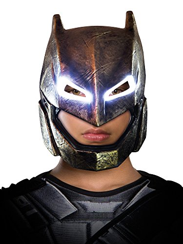 (Rubie's Men's Batman v Superman: Dawn of Justice Batman Armored Light Up Mask, Multi, One)