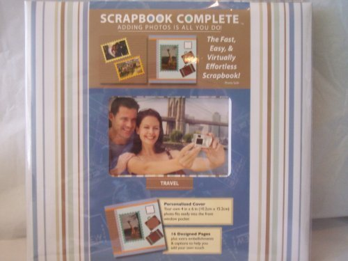 Scrapbook Complete - Travel Album - 54 Piece Set - Scrapbooking Made Simple ()