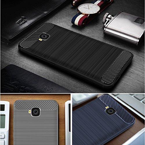 Funda Huawei Ascend XT(H1611),Funda Fibra de carbono Alta Calidad Anti-Rasguño y Resistente Huellas Dactilares Totalmente Protectora Caso de Cuero Cover Case Adecuado para el Huawei Ascend XT(H1611) D