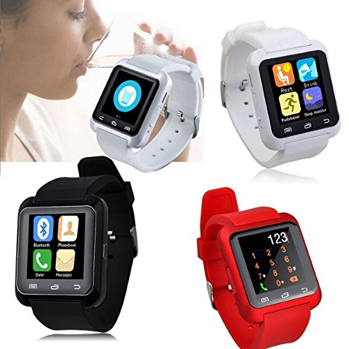UZOU U80 Bluetooth Smart Watch Inteligente Arco Reloj Teléfono Compañero para Android IOS Iphone Samsung LG HTC (Red), [Importado de Reino Unido]: ...