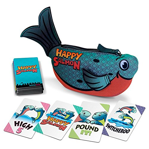 - Stoneblade Entertainment Happy Salmon Blue Fish by North Star Games | Fast Paced Family Card Game