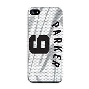 TYHH - Lifelike Iphone 5/5s Case With Basketball Nba San Antonio Spurs Color Print ending phone case