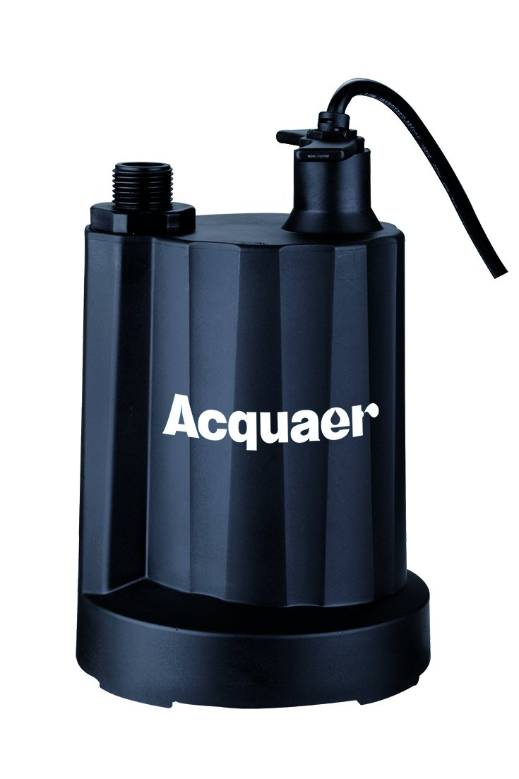 Acquaer 1/6 HP Thermoplastic Submersible Utility Pump, Model: UTP017-1
