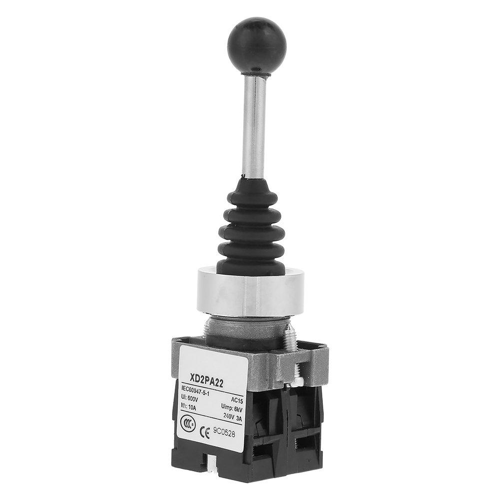 Palanca de mando Interruptor moment/áneo 2NO 2 Posiciones Muelle trasero Monolever XD2PA22CR Di/ámetro del agujero de montaje 22 mm