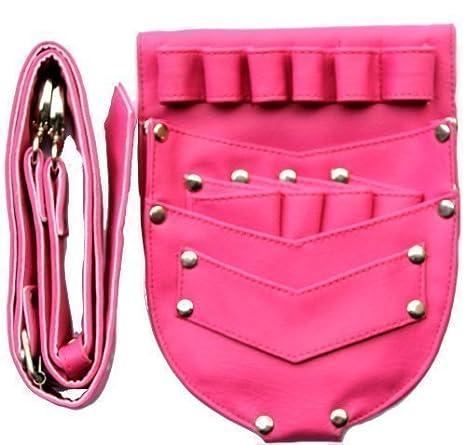 Friseurzubehör Tasche Gürteltasche/ Beutel Auswahl von Farben und Designs - Pink Runde Form AWAN TRADERS HL0